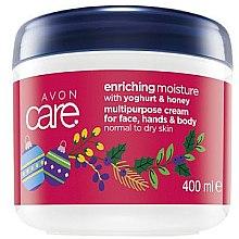 "Духи, Парфюмерия, косметика Восстанавливающий крем для лица и тела ""Мед и йогурт"" - Avon Care Enriching Moisture Cream"