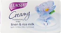 Духи, Парфюмерия, косметика Крем-мыло со льном и рисовым молочком - Luksja