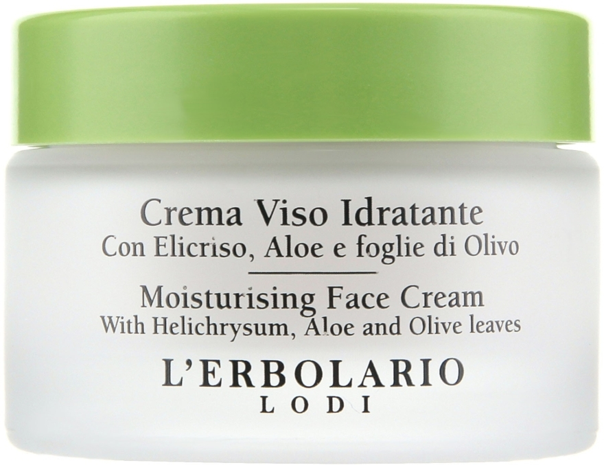 Увлажняющий крем с цмином и алоэ - L'Erbolario Crema Viso Idratante all'Elicriso e all' Aloe