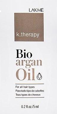 Аргановое масло для волос - Lakme K.Therapy Bio Argan Oil (пробник)
