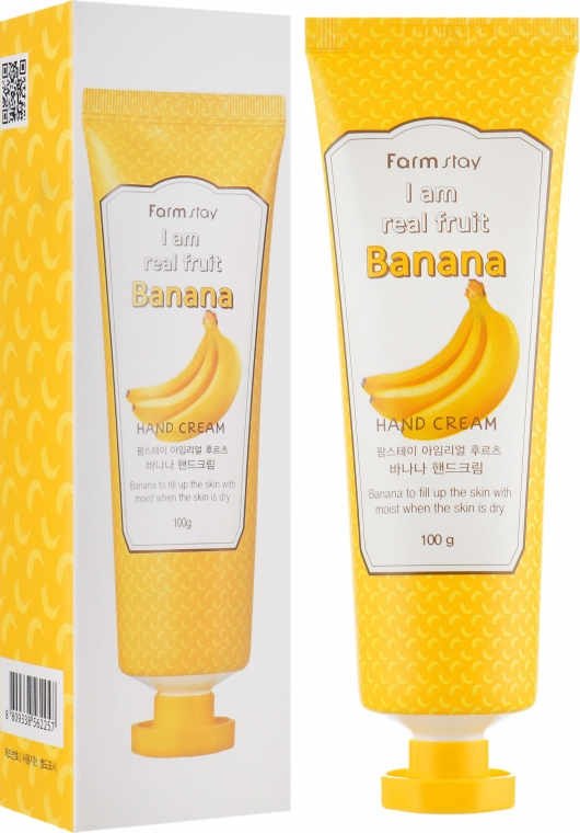 Крем для рук с экстрактом банана - FarmStay I Am Real Fruit Banana Hand Cream
