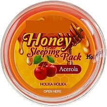 Духи, Парфюмерия, косметика Ночная маска для лица - Holika Holika Honey Sleeping Pack Acerola Honey