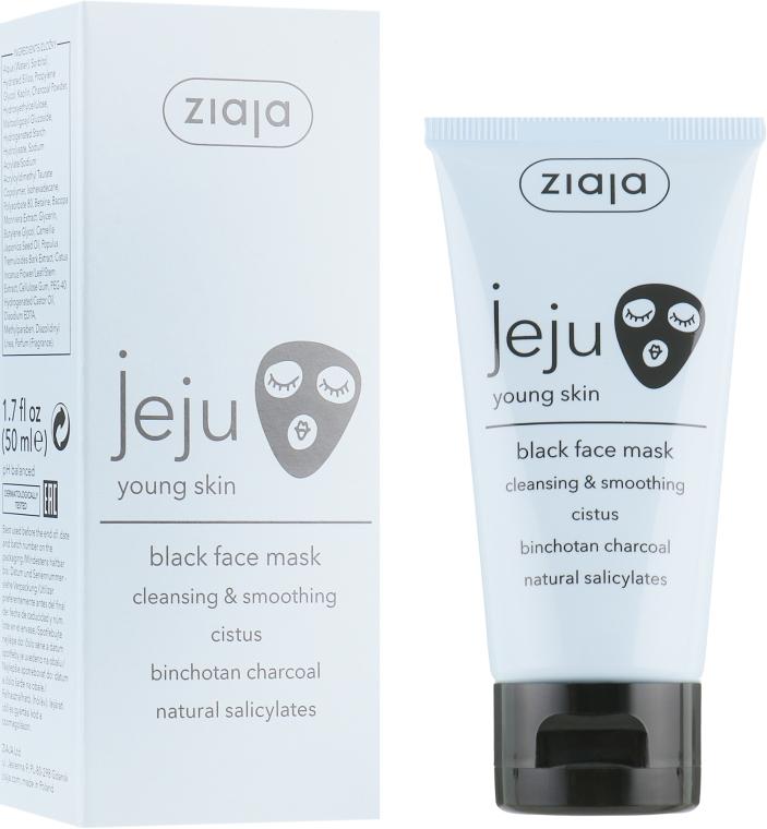 Черная маска для лица с экстрактами мяты, граната и черной смородины - Ziaja Jeju