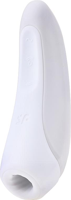 Вакуумный клиторальный стимулятор, белый - Satisfyer Curvy 1+