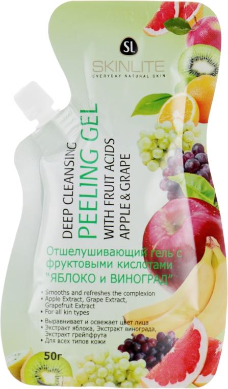 """Отшелушивающий гель-пилинг с фруктовыми кислотами """"Яблоко и виноград"""" - Skinlite Deep Cleansing Peeling Gel"""