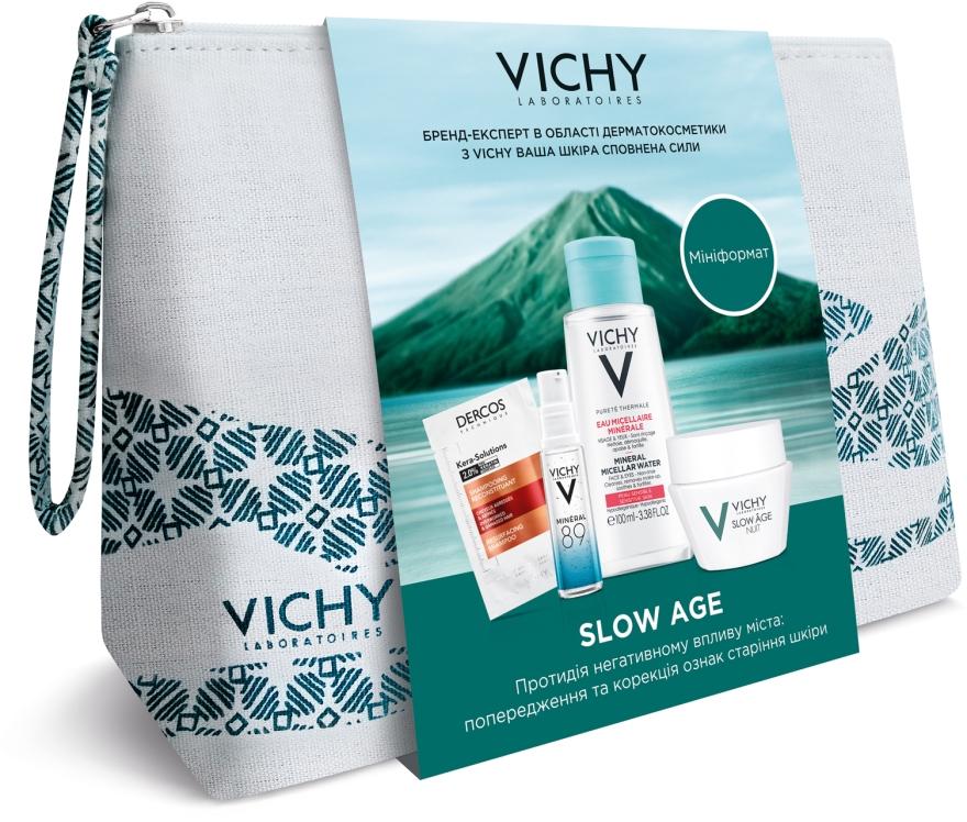 Комплексный набор-уход - Vichy Slow Age (micel/water/100ml + gel/10ml + cr/15ml + sh/6ml)