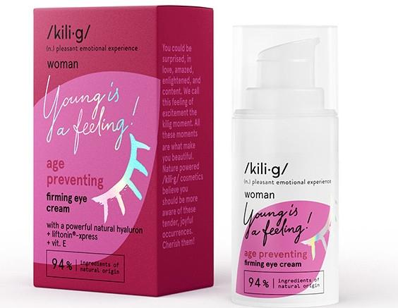 Укрепляющий крем для кожи вокруг глаз - Kili·g Woman Age Preventing Eye Cream