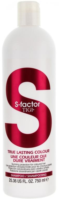 Разглаживающий шампунь для окрашенных волос - Tigi True Lasting Colour Shampoo