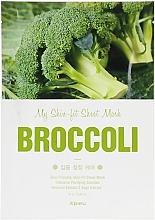 Духи, Парфюмерия, косметика Тканевая маска для лица с экстрактом брокколи - A'pieu My Skin-Fit Sheet Mask Sea Broccoli