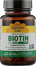 Духи, Парфюмерия, косметика Биотин, 10000 мкг - Country Life Biotin