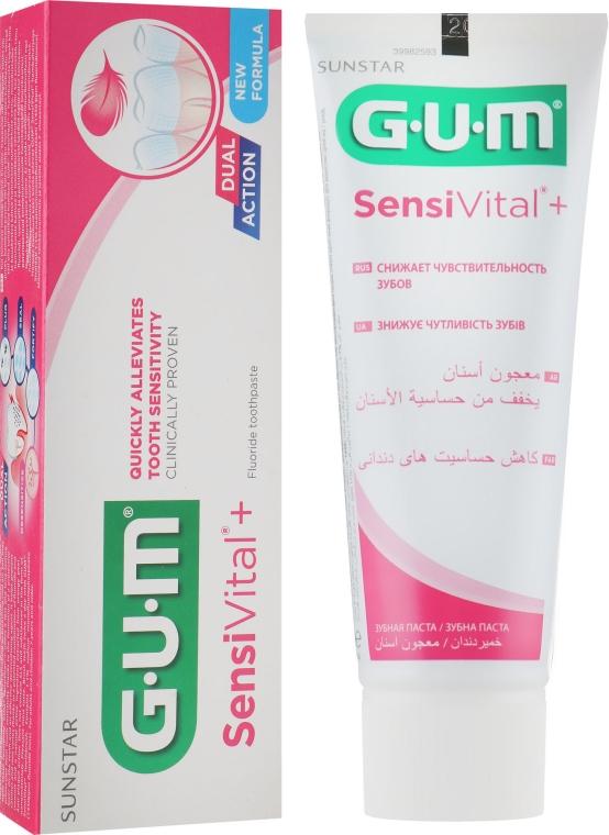 Зубная паста для чувствительных зубов - G.U.M. Sensivital+ Fluoride Toothpaste
