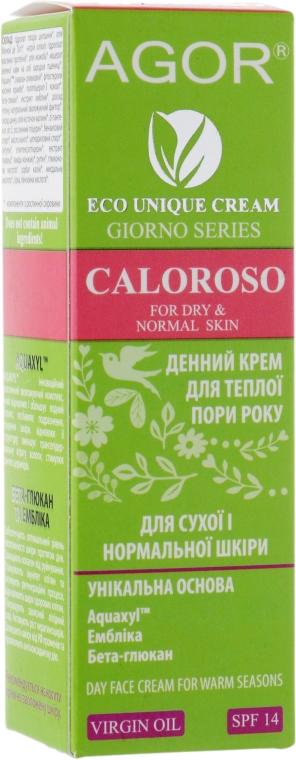 Крем дневной для сухой и нормальной кожи - Agor Giorno Caloroso Day Face Cream