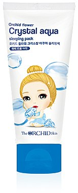 Увлажняющий ночной крем для лица - The Orchid Skin Orchid Crystal Aqua Sleeping Pack