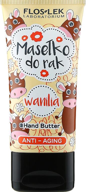 "Антивозрастное масло для рук ""Ваниль"" - Floslek Anti-Aging Wanilia Hand Butter"