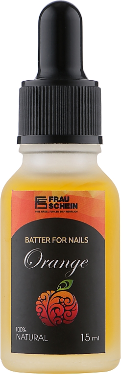 "Баттер жидкий для ногтей и кутикулы ""Апельсин"" с пипеткой - Frau Schein Batter For Nails Orange"