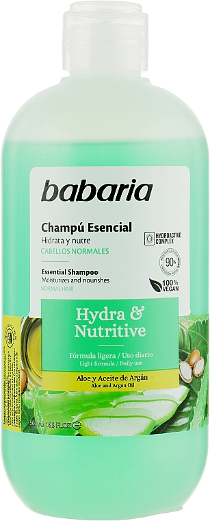 """Шампунь для волос """"Увлажнения и питания"""" - Babaria Hydra & Nutritive Shampoo"""
