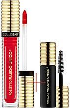 Духи, Парфюмерия, косметика Набор - Collistar Fluido Unico, 11-Fiamma Mat (lipstick/5ml + mascara/6ml)