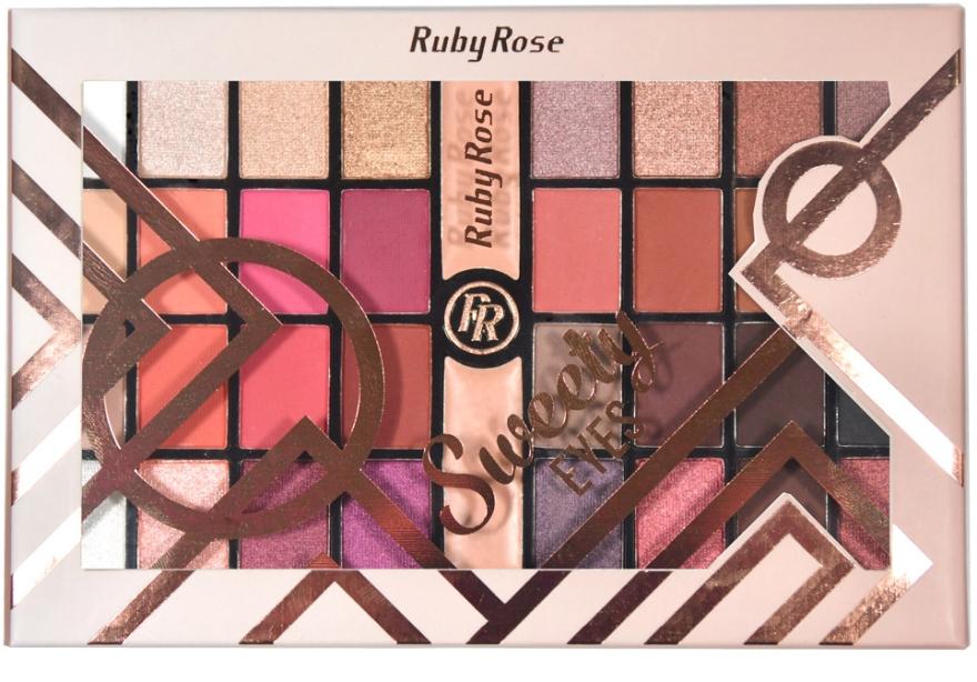 Палетка теней для век, 32 оттенка - Ruby Rose Eyeshadow Palette Sweety Eyes