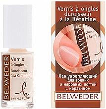 Духи, Парфюмерия, косметика Укрепляющий лак для тонких и неровных ногтей - Belweder Keratin Nail Polish