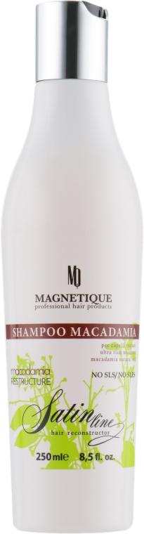 Шампунь с маслом макадамии и кератином - Magnetique Satin Line Shampoo Macadamia Resrtucture