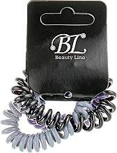 Духи, Парфюмерия, косметика Набор резинок для волос, 405004, серая+фиолетовая+черная - Beauty Line