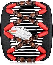 Духи, Парфюмерия, косметика Заколка для волос Beada 008, на коричневых гребнях - African Butterfly Hair Clip