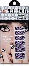 Духи, Парфюмерия, косметика Водные наклейки для ногтей, зебра фиолетовая - Элита