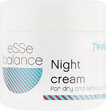 Духи, Парфюмерия, косметика Ночной крем для сухой и чувствительной кожи - J'erelia Esse Balance