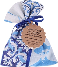 Духи, Парфюмерия, косметика Ароматический мешочек, бело-синий, лаванда - Essencias De Portugal Tradition Charm Air Freshener
