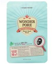Духи, Парфюмерия, косметика Маска для лица - Etude House Wonder Pore Black Mask Sheet