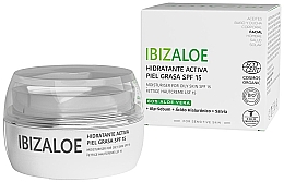 Духи, Парфюмерия, косметика Увлажняющий крем для жирной кожи - Ibizaloe Moisturizing Cream SPF15 For Oily Skin
