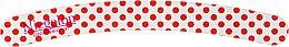 Духи, Парфюмерия, косметика Пилочка для маникюра, 0556, белая в красный горох - Niegelon Solingen