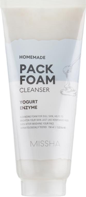 Маска-пенка - Missha Homemade Pack Foam Cleanser Yogurt Enzyme