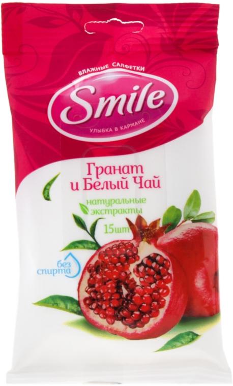 """Влажные салфетки """"Гранат и белый чай"""", 15шт - Smile Ukraine"""