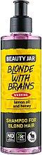 "Духи, Парфюмерия, косметика Шампунь для волос оттенка блонд ""Blonde With Brains"" - Beauty Jar Shampoo For Blond Hair"