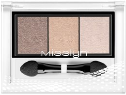 "Тени для век ""Трио"" - Misslyn High Shine Trio Eyeshadow — фото N1"