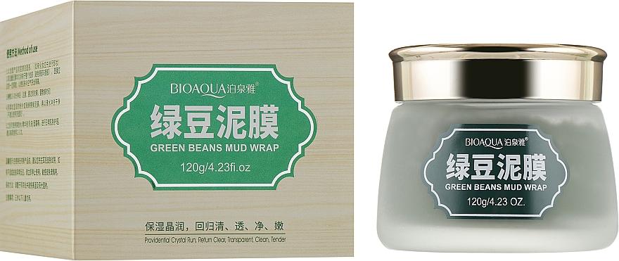 Очищающая маска для лица на основе зеленых бобов Маш, витамина Е и вулканической грязи - BioAqua Cleansing Mask