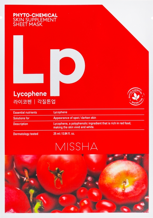 Тканевая маска для лица - Missha Phytochemical Skin Supplement Sheet Mask Laycophene/Peeling Tone Up