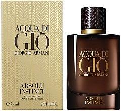 Духи, Парфюмерия, косметика Giorgio Armani Acqua di Gio Absolu Instinct - Парфюмированная вода