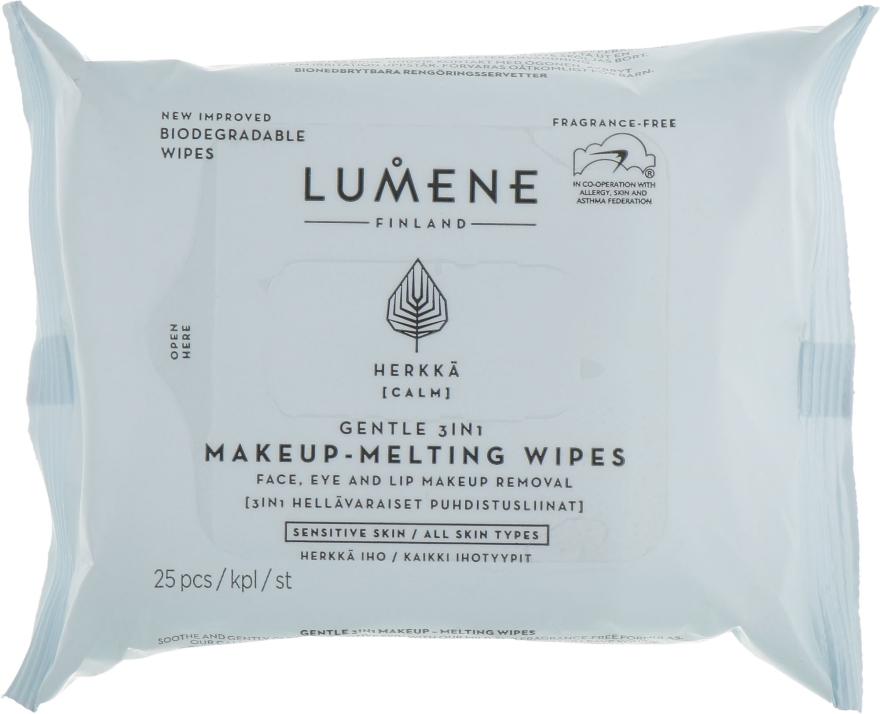 Салфетки 3в1 для снятия макияжа - Lumene Calm 3in1 Make Up Cleansing Wipes