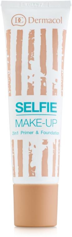 Двухфазный тональный крем - Dermacol Selfie Make-up Primer&Foundaition