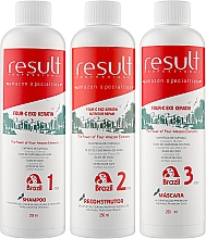 Духи, Парфюмерия, косметика Набор - Result Professional Four-C Eko Keratin (shm/250ml + hair/balm/250ml + hair/mask/250ml)