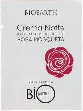 Духи, Парфюмерия, косметика Ночной био-крем на основе масла роза москета - Bioearth Bioprotettiva Crema Notte (пробник)