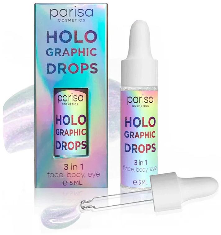 Голографические капли-блестки HD-01 - Parisa Holographic Drops