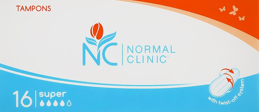 Тампоны Super, 4 капли, 16шт - Normal Clinic