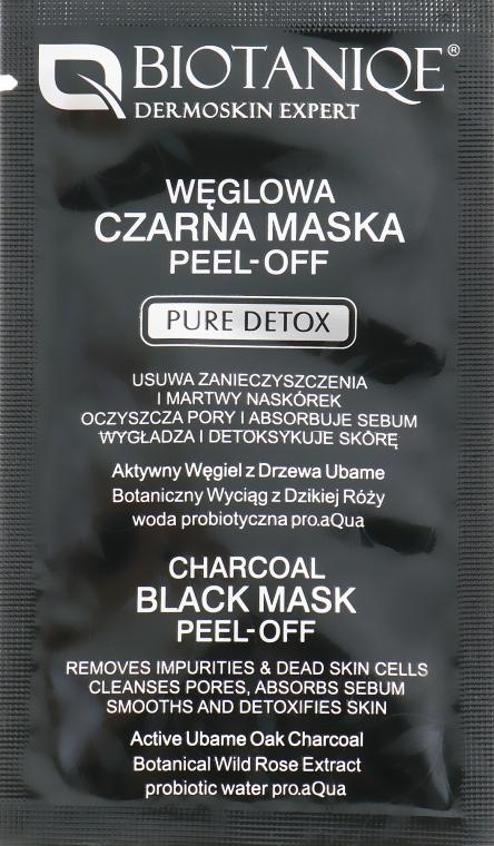 Маска-пленка для лица с дубовым углём - Maurisse Biotaniqe Charcoal Black Mask Peel-Off (пробник)