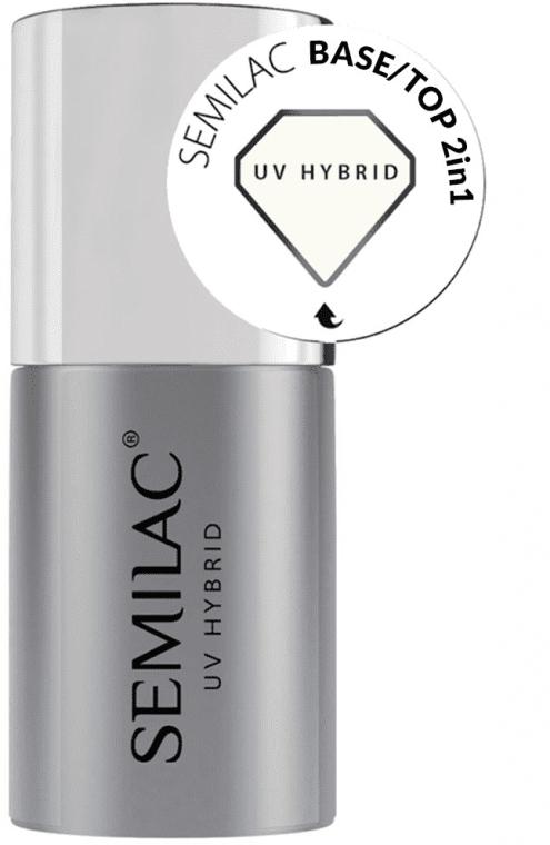Semilac UV Hybrid Base-Top - База-топ 2 в 1 для гель-лака: купить по лучшей цене в Украине | Makeup.ua