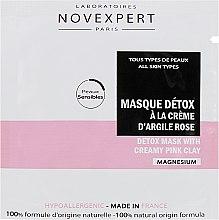 Духи, Парфюмерия, косметика Маска детокс для лица с розовой глиной - Novexpert Magnesium Mask Detox With Creamy Pink Clay (пробник)