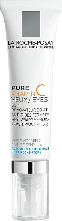 Антивозрастной увлажняющий крем-филлер комплексного действия для чувствительной кожи вокруг глаз - La Roche-Posay Pure Vitamin C Eyes
