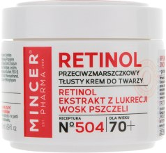 Духи, Парфюмерия, косметика Крем для лица против морщин 70+ - Mincer Pharma Retinol № 504